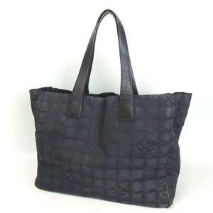 CHANEL New Travel Line black shoulder bag tote